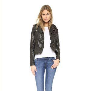 FREE PEOPLE Vegan Leather Moto Jacket Sz L
